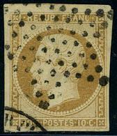 Oblitéré N° 9, 10c Bistre, Léger Pelurage Sinon TB - Postzegels