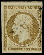 Oblitéré N° 9a, 10c Bistre-brun, T.B. - Postzegels