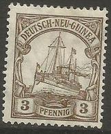 German New Guinea - 1918 Kaiser's Yacht 3pf Mint Hinged    Sc 20 - Colony: German New Guinea