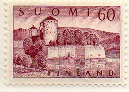 PIA - FINLANDIA - 1957  : Castello Di Olavinlinna -   (Yv  455) - Castelli
