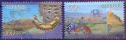 Used Armenia 2013, Historical Capitals Of Armenia. Armavir & Yervandashat 2V. - Armenia