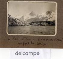 Photo Ancienne -  La Grave Juillet 1926 -  Le Lac Noir, Au Fond La Meije - Orte