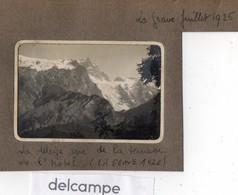 Photo Ancienne -  La Grave Juillet 1926 -  La Meije Vue De La Terrasse De L'Hotel - Orte
