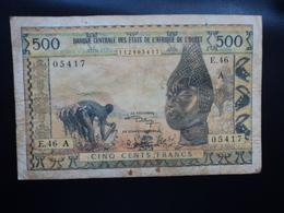 CÔTE D'IVOIRE : 500 FRANCS   ND   Signature 9   P 102Aj     TB+ - Côte D'Ivoire