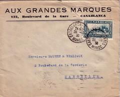 """MAROC - CASBLANCA - 28-10-1936 - LETTRE AVION ENTETE """"AUX GRANDES MARQUES"""" POUR LA FRANCE - Briefe U. Dokumente"""
