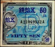 MILITARY CURRENCY-50 SEN- JAPAN-SERIES100-H-609 - Japon