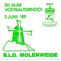 Molenweide BLO 20 Jaar Voetbaltornooi 89 Sticker Autocollant - Autocollants