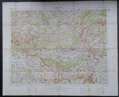 Carte Topographique Militaire UK War Office 1916 World War 1 WW1 Luxembourg Arlon Bahay Martelange Marbehan Oberkorn - Cartes Topographiques