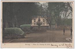 BERNAY PLACE DU CHAMP DE FOIRE 1904 COLORISEE TBE - Bernay