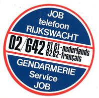 Sticker Autocollant Job Rijkswacht Gendarmerie - Autocollants