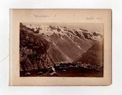SWITZERLAND MURREN 1895 & LE TRUMMELBACH ~ A PAIR OF ANTIQUE PHOTOGRAPHS #89708 - Photographs
