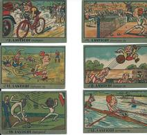 LASTICOT 6x Sport Champion 9.7cm/6.5cm - Cartes Postales
