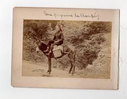 SWITZERLAND 1895 - UNE PAYSANNE DE CHAMPÉRY & LA DENT DU MIDI ~ A PAIR OF ANTIQUE PHOTOS #89711 - Anciennes (Av. 1900)