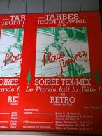 Affiches - Tarbes Soirée Tex- Mex Flaco Jimenez  Le Parvis Fait La Fête Au Rétro. - Afiches