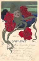 HANS CHRISTIANSEN KUNSTAUSSTELLUNG DARMSTADT ART NOUVEAU 1901 ARTIST SIGNED POSTCARD 40492 - Christiansen