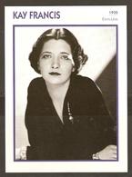 PORTRAIT DE STAR 1935 ETATS UNIS USA - ACTRICE KAY FRANCIS - ACTRESS CINEMA - Fotos