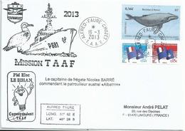 YT 587 - Baleine à Bosse - Posté à Bord De L'Albatros - Alfred Faure - Crozet - 16/03/2013 - French Southern And Antarctic Territories (TAAF)