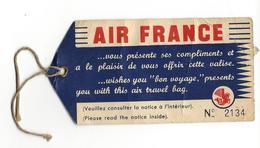 AVIATION-AVION-ETIQUETTE BAGAGE-COMPAGNIE-AIR FRANCE-CREVETTE- - Étiquettes à Bagages