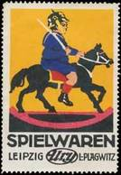 Leipzig/Plagwitz: Spielwaren Reklamemarke - Cinderellas