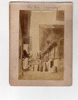SWITZERLAND 1895 - LE RUE CHAMPÉRY & LE PONT DE LA SOUFFLEZ ~ A PAIR OF ANTIQUE PHOTOGRAPHS #89712 - Photos