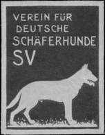 Karlsruhe: Verein Deutscher Schäferhunde Reklamemarke - Cinderellas