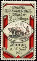 Danzig: Deutsche Landwirtschaftliche Wanderausstellung Reklamemarke - Erinnophilie