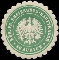 Aurich: K.Pr. Regierungs-Hauptkasse Zu Aurich Siegelmarke - Cinderellas
