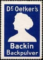 Dr. Oetkers Backin Backpulver Reklamemarke - Cinderellas