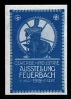 Feuerbach: Gewerbe Und Industrie Ausstellung Reklamemarke - Cinderellas