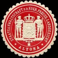 Altona: Staatsanwaltschaft Bei Dem Koeniglich Preussischen Landgericht - Altona Siegelmarke - Cinderellas