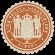 Altona: K.Pr. Landgericht Altona Siegelmarke - Cinderellas