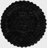 Arnsberg: K. Pr. Regierung - Arnsberg Siegelmarke - Cinderellas