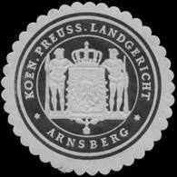 Arnsberg: K.Pr. Landgericht Arnsberg Siegelmarke - Cinderellas