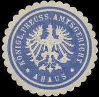 Ahaus: K.Pr. Amtsgericht Ahaus Siegelmarke - Cinderellas