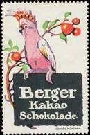 Pößneck/Thüringen: Papagei - Berger Kakao & Schokolade Reklamemarke - Cinderellas