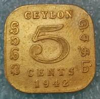 Ceylon 5 Cents, 1942 -1888 - Sri Lanka