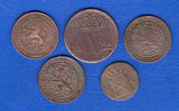 Pays Bas 5 Pieces - 1849-1890 : Willem III