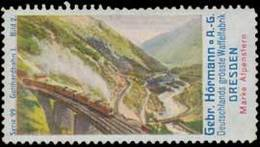 Dresden: Gotthardbahn Reklamemarke - Erinnofilia