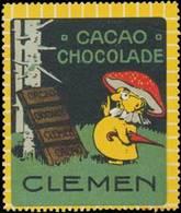 Döbeln: Kakao & Schokolade Clemen Reklamemarke - Vignetten (Erinnophilie)