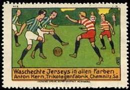 Chemnitz: Fußball Reklamemarke - Erinnophilie