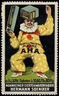 Mannheim: Clown - AHA Nudeln & Maccaroni Reklamemarke - Cinderellas