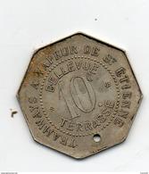 Jeton Octogonal Tramway à Vapeur De St Etienne. 10c - Monétaires / De Nécessité