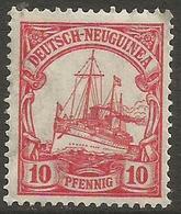 German New Guinea - 1914 Kaiser's Yacht 10pf Mint Hinged    Sc 22 - Colony: German New Guinea