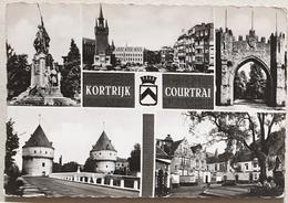 Cpsm Belgique KORTRIJK  COURTRAI Multivue N&b - Kortrijk