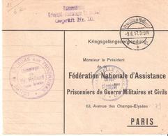 Courrier D'un Prisonnier De Guerre Français Au Camp De PREUBISCH HOLLAND Adressé à PARIS - Storia Postale