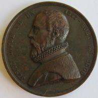 M02004  JUSTE LIPSE - 1547 - 1606 - Son Profil (40g) Critique, Historien, Philologue.... Au Revers - Professionnels / De Société