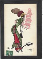 CPA Naillod Femme Girl Woman Circulé Illustrateur Mode Chapeau - Naillod