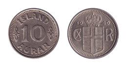 Iceland / 1940 / 10 Aurar / KM 1.2 / XF - Islande