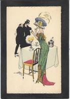 CPA Naillod Femme Girl Woman Non Circulé Illustrateur Mode Chapeau Carte Double Deux Volets - Naillod
