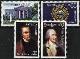 SIERRA LEONE, 1987, BICENTENNIAL OF THE CONSTITUTION OF USA, YV#855-58, MNH - Sierra Leone (1961-...)